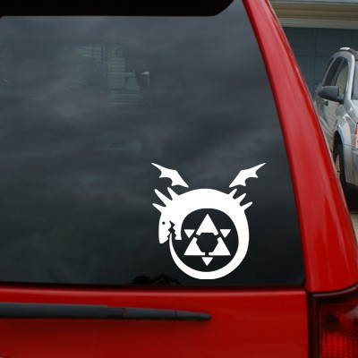 Full Metal Alchemist Homunculus Symbol Black Heart Decals More